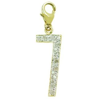 EZ Charms 14K Yellow Gold Diamond 7 Charm