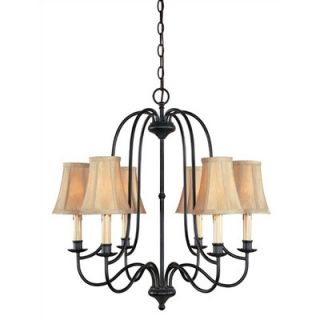 World Imports Lighting Metalcraft 6 Light Chandelier