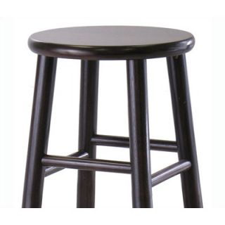 Winsome Bevel Seat 30 Bar Stool in Espresso (Set of 2)