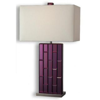 Dimond Lighting Avalon One Light Table Lamp in Purple Mirror and Black