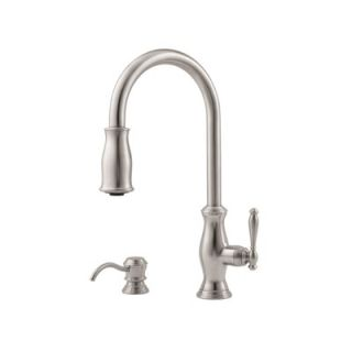 Price Pfister Hanover One Handle Widespread Kitchen Faucet with Soap