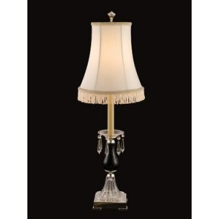 Dale Tiffany Crystal Accent Table Lamp in Chrome