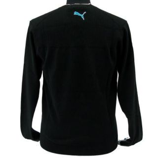 New Puma Mens Golf V Neck Sweater Black