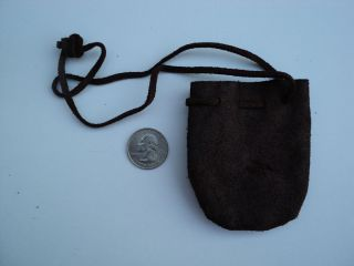 Tan Leather Bag Pouch Arts Crafts Mountain Man pow WOW Black Powder 4