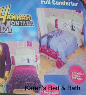 Hannah Montana Girls Full Bedding Comforter Sheets Drapes Valance