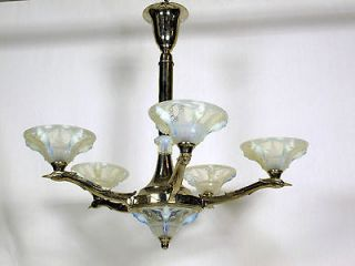 1930 french art deco chandelier by boris lacroix time left