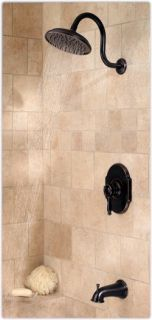 Price Pfister 808 Tmyy Hanover Single Handle Tub Shower Trim in Tuscan