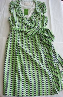 New Kate Spade Aubrey Wrap Sprout/mint Green Dress Size 10 M 100% SILK