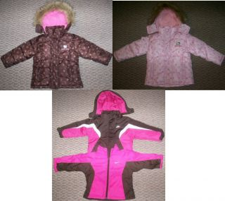 Hello Kitty or Nike Pink Brown Coat Jacket Girls Sz 3T