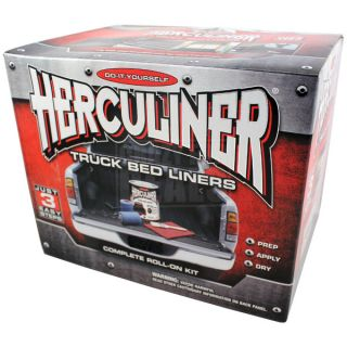 HERCULINER Pickup Truck Bed Liner Brush on / Roll on Kit (Black)