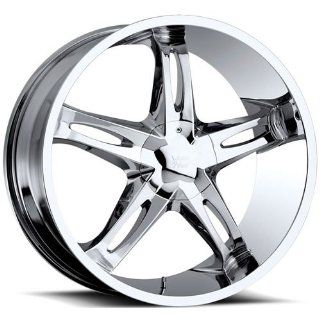 Vision Hollywood 5 22 Chrome Wheel / Rim 5x5 & 5x135 with a 15mm