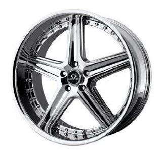 Lorenzo WL019 18x8 Chrome Wheel / Rim 5x112 with a 45mm Offset and a
