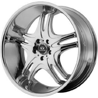 Lorenzo WL031 20x8.5 Chrome Wheel / Rim 5x120 with a 18mm Offset and a