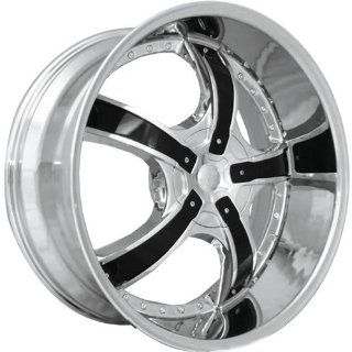 Starr Bones 22 Chrome Wheel / Rim 5x4.25 & 5x115 with a 34mm Offset