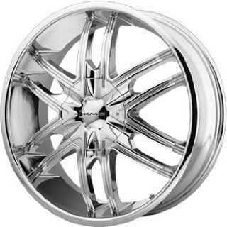 KMC KM678 24x9.5 Chrome Wheel / Rim 6x135 & 6x5.5 with a 38mm Offset