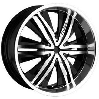 Cruiser Alloy Threshold 22x9.5 Black Wheel / Rim 6x5 & 6x135 with a