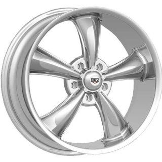 Rev Classic 105 17 Chrome Wheel / Rim 5x4.75 with a 0mm Offset and a