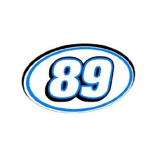 89 Number Jersey Nascar Racing   Blue   Window Bumper Sticker