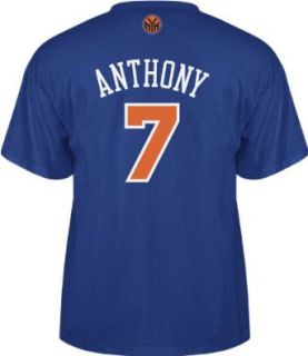Carmelo Anthony Mens Blue NBA Name and Number Tee, Xx Large Clothing