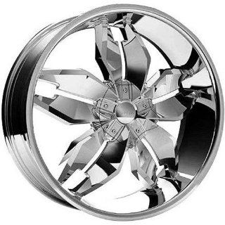 Strada Forchetta 22 Chrome Wheel / Rim 5x4.5 & 5x5 with a 40mm Offset