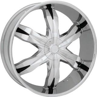 Starr Rebel 28 Chrome Wheel / Rim 5x115 & 5x5 with a 30mm Offset and a