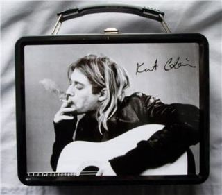 nirvana kurt cobain lunch box thermos new