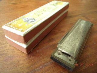 1873 Antique Lot Harmonica Sousa Hohner Marine Band Box