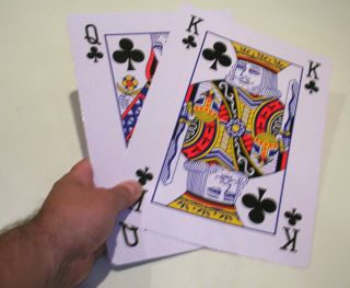 11 JUMBO GIANT PLAYING CARDS DECK Stage Magic Trick Big Extra