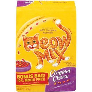 Meow Mix 17.6 Lb Original Choice Dry Cat Food Pet