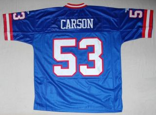 Giants Harry Carson Reebok NFL Sewn Throwback Jersey XL