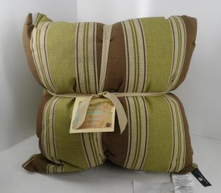 Newport Layton Home Fashions Indoor Outdoor Pillows Malt Stripe 2 pack