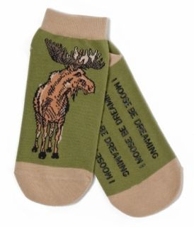 Hatley No Slip Ankle Socks Womens Medium 9 11 Moose Country