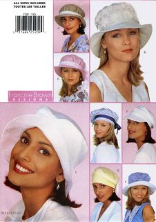 Spring Summer Hats in 8 Great Styles B4908 Pattern