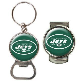 BSS   New York Jets NFL Bottle Opener Key Chain & Money