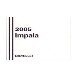2005 Chevrolet Impala Owners Manual User Guide Reference Operator Book