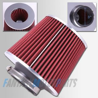 Universal High Performance Red 3 Inlet Cone Dry Flow Air Filter Super