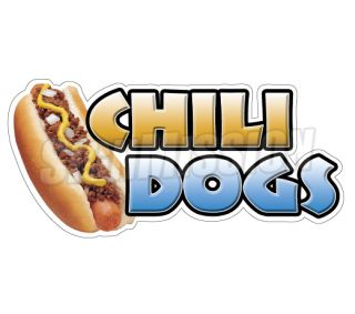 Chili Dogs Concession Decal Hot Dog Cart Trailer Stand Sticker