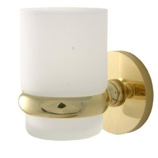 Universal Wall Mounted Tumbler Holder Finish Satin Brass