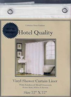 Hotel Weight HEAVY Vinyl Shower Curtain or LINER Metal GROMMETS