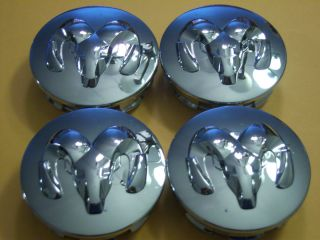 Dodge Ram Head 1500 Durango Challenger Chrome Wheel Center Caps Cap x4