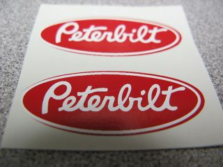 PETERBILT TRUCK TRACTOR TRAILER CUSTOM PAIR TOY DECALS VINYL