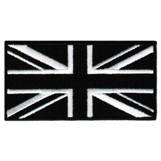 Black Union Jack Embroidered Patch British England Flag UK