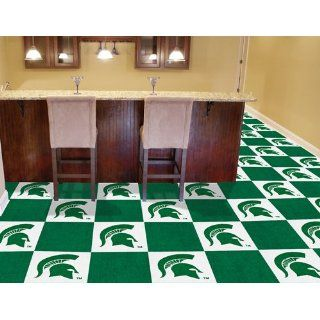Pack of 20 NCAA 18 Michigan State Carpet Floor Tiles