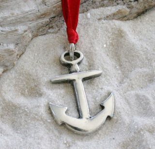 Anchor Navy Christian Pewter Christmas Ornament Holiday