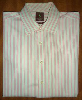TAYLORBYRD   PINK STRIPE LONG SLEEVED DRESS SHIRT   MENS 17R