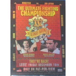 2010 Topps UFC Main Event Fight Poster #UFC4 Royce Gracie