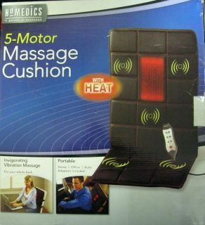 HOMEDICS VC 150E 5 motor Massage Cushion w Heat home, office, auto