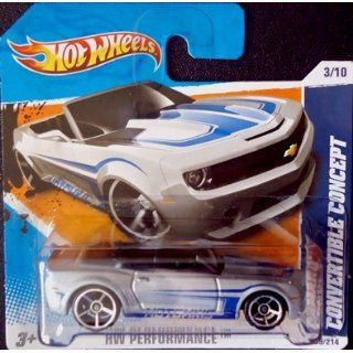 2010 Hot Wheels CAMARO CONVERTIBLE CONCEPT (Silver & Blue