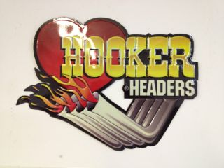 Hooker Headers Metal Sign Hot Rat Rod Gasser Cool Garage Art