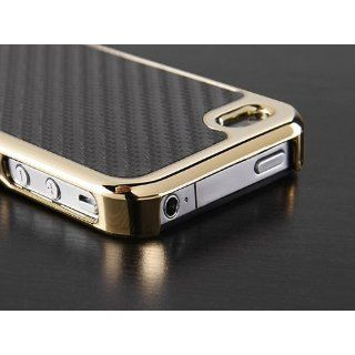 Pandamimi Carbon Fiber Style Metal Chrome Side Case Cover